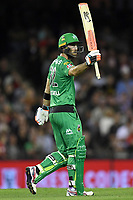 10th January 2020; Marvel Stadium, Melbourne, Victoria, Australia; Big Bash League Cricket, Melbourne Renegades versus Melbourne Stars; Glenn Maxwell of the Stars celebrates his half century - Editorial Use