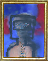 Pictured: One of Sdney Nolan's paintings Friday 02 December 2016<br /> The Sidney Nolan Trust, Rodd, Herefordshire, England, UK