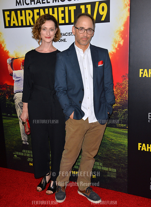 """LOS ANGELES, CA. September 19, 2018: Marguerite Moreau & David Wain at the Los Angeles premiere for Michael Moore's """"Fahrenheit 11/9"""" at the Samuel Goldwyn Theatre.<br /> Picture: Paul Smith/Featureflash"""