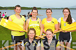 The Muckross crew that won the Junior Ladies sixes at the Killarney Regatta on Monday evening front l-r:Denise Murphy, Tara McSheery. Back row: Eadaoin Moynihan, Caroline Buckley, Elaine Daly, and Kara O'Connor