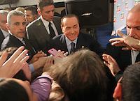 Silvio Berlusconi  a Napoli  Durante il  il suo tour a sostegno dei candidati presidenti alle prossime elezioni regionali