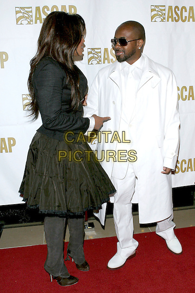JANET JACKSON & JERMAINE DUPRI.22nd Annual ASCAP Pop Awards held at the Beverly Hills Hilton,  Beverly Hills, California, USA, 16th May 2005..full length black shirt skirt white cuffs suit coat sunglasses couple.Ref: ADM.www.capitalpictures.com.sales@capitalpictures.com.©Jacqui Wong/AdMedia/Capital Pictures.