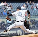 Masahiro Tanaka (Yankees),<br /> APRIL 16, 2014 - MLB : Masahiro Tanaka of the New York Yankees pitches against the Chicago Cubs during the Major League Baseball interleague baseball doubleheader game at Yankee Stadium in the Bronx, NY, USA.<br /> (Photo by AFLO)