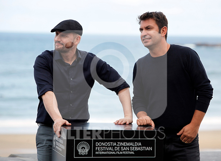 "Actor Arturo Vals and director Juan Jose Campanella present their new film ""Futbolin"" during the 61 San Sebastian Film Festival, in San Sebastian, Spain. September 20, 2013. (ALTERPHOTOS/Victor Blanco)"