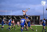4th January 2020; Kingsholm Stadium, Gloucester, Gloucestershire, England; English Premiership Rugby, Gloucester versus Bath; Freddie Clarke of Gloucester wins the lineout ball - Editorial Use