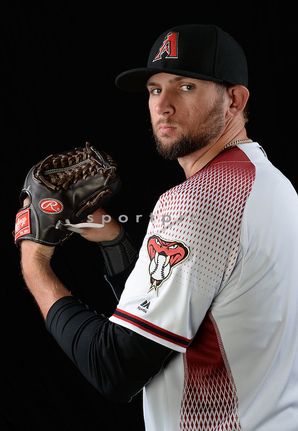 Arizona Diamondbacks Jake Barrett (33) during photo day on February 28, 2016 in Scottsdale, AZ.