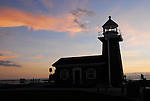 Surf Museum at Lighthouse Point at sunset