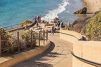 Pedestrian Walk Way to Corona Del Mar State Beach