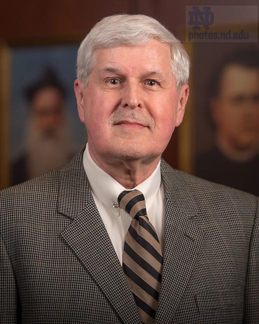 April 12, 2017; Kenneth Kinslow, Emeritus faculty portrait (Photo by Matt Cashore/University of Notre Dame)