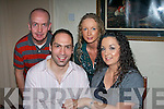 ENGAGEMENT: Joe Doyne and Siobha?n Concagh who announced their engagement in Cassidy's Restaurant, Tralee on Saturday night.l-r: Finian Concagh, Joye Doyne, Bridget Concagh and Siobha?n Concagh...   Copyright Kerry's Eye 2008