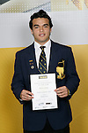 Rugby Union Winner - Winstone Stanely. ASB College Sport Young Sportsperson of the Year Awards 2006, held at Eden Park on Thursday 16th of November 2006.<br />