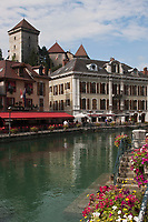 Europe/France/Rhône-Alpes/74/Haute-Savoie/Annecy: les bords du Thiou et le Château