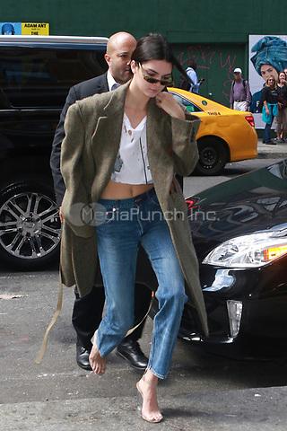 NEW YORK, NY - SEPTEMBER 7: Kendall Jenner seen on September 7, 2017 in New York City. Credit: DC/Media Punch