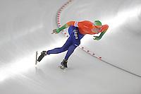 SCHAATSEN: BERLIJN: Sportforum, 07-12-2013, Essent ISU World Cup, 500m Men Division B, Lennart Velema (NED), ©foto Martin de Jong