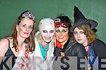 Emma O'Mahony Tralee, Bernie O'Sullivan Ardfert, Susan O'Keeffe Tralee and Imelda O'Sullivan Ardfert Witches having fun at the Knocknagoshel Halloween celebrations on Sunday night..