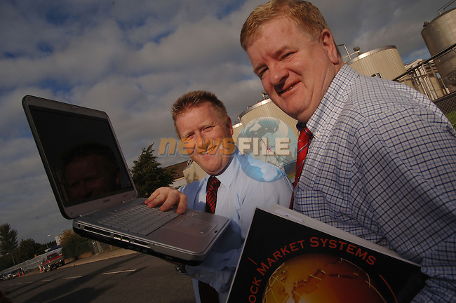 September 28th, 2006. Directors of Global Stock Market Systems, Donore Road Industrial Estate, Drogheda. From L to R: Robbie Sweeney, Director and Paddy Carr, Director...Photo: BARRY CRONIN/Newsfile..(Photo credit should read BARRY CRONIN/NEWSFILE).