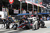 2017 Verizon IndyCar Series<br /> Toyota Grand Prix of Long Beach<br /> Streets of Long Beach, CA USA<br /> Sunday 9 April 2017<br /> Graham Rahal, pit stop<br /> World Copyright: Michael L. Levitt<br /> LAT Images