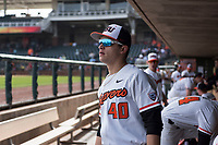 Oregon State Beavers outfielder Carter Booth (40) before a game against the New Mexico Lobos on February 15, 2019 at Surprise Stadium in Surprise, Arizona. Oregon State defeated New Mexico 6-5. (Zachary Lucy/Four Seam Images)