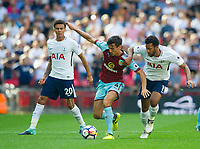 Burnley Jack Cork  and Tottenham's Mousa Dembele during the Premier League match between Tottenham Hotspur and Burnley at White Hart Lane, London, England on 27 August 2017. Photo by Andrew Aleksiejczuk / PRiME Media Images.