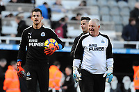 Martin Dubravka of Newcastle United (l) starts for Newcastle United today during Newcastle United vs Manchester United, Premier League Football at St. James' Park on 11th February 2018