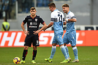 Sergej Milinkovic-Savic of Lazio (c) celebrates with Ciro Immobile (r) after scoring a goal during the Serie A 2018/2019 football match between SS Lazio and Cagliari at stadio Olimpico, Roma, December 22, 2018 <br />  Foto Andrea Staccioli / Insidefoto