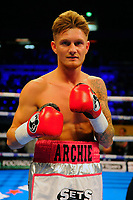 Archie Sharp defeats Jaun Ocura during a Boxing Show at the Copper Box Arena on 8th July 2017