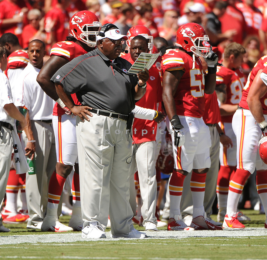 Kansas City Chiefs Romeo Crennel (HC) in action during a game against the Atlanta Falcons on September 9, 2012 at Arrowhead Stadium in Kansas City, MO. The Falcons beat the Chiefs 40-24.
