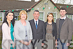 RETIRING: Ballyfinnane school principal, Eileen Daly (second from left) at a celebration to mark her retirement on Friday evening with family members, l-r: Cliona Daly, Micheal Daly, Sarah McCoy, James Daly.