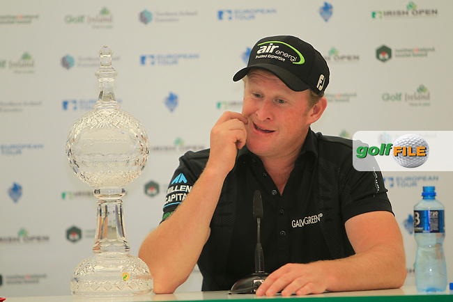 Jamie Donaldson (WAL) winner of the Irish Open at Royal Portrush GC,Portrush,County Antrim,Ireland. 1/7/12.Picture Fran Caffrey www.golffile.ie