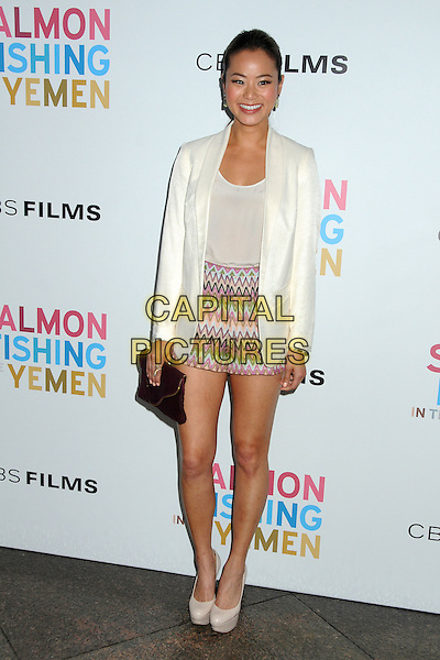 Jamie Chung.CBS Films' U.S. Premiere of 'Salmon Fishing In The Yemen' held at The Directors Guild of America in West Hollywood, California, USA..March 5th, 2012.full length white blazer top pink zig zag shorts purple clutch bag.CAP/ADM/BP.©Byron Purvis/AdMedia/Capital Pictures.