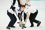 Miyo Ichikawa (Chuden), SEPTEMBER 16, 2013 - Curling : Olympic qualifying Japan Curling Championships Women's Final third Mach between Fortius 11-6 Chuden at Dogin Curling Studium, Sapporo, Hokkaido, Japan. (Photo by Yusuke Nakanishi/AFLO SPORT)