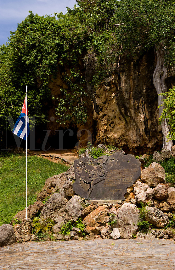Famous gravesite of Alberto del Gado Gado a successful spy for Cuba and his honored grave and plaque