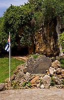 Famous gravesite of Alberto del Gado Gado a successful spy for Cuba and his honored grave and plaque