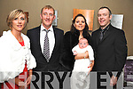 A BIG DAY for Baby Niamh Healy who was christened in St Patrick's church, Kilgarvan, on Saturday pictured with her parents Philip and Eileen, godparents John Creedon and Mags Healy, at the celebrations afterwards in the Brook Lane Hotel, Kenmare.