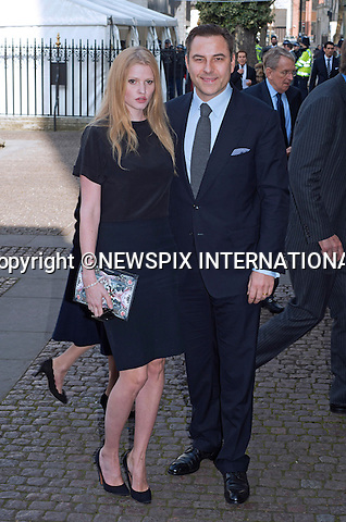 DAVID WALLIAMS AND WIFE LARA STONE<br /> attend Sir David Frost Memorial, Westminster Abbey, London_13/03/2014<br /> Mandatory Credit Photo: &copy;Dias/NEWSPIX INTERNATIONAL<br /> <br /> **ALL FEES PAYABLE TO: &quot;NEWSPIX INTERNATIONAL&quot;**<br /> <br /> IMMEDIATE CONFIRMATION OF USAGE REQUIRED:<br /> Newspix International, 31 Chinnery Hill, Bishop's Stortford, ENGLAND CM23 3PS<br /> Tel:+441279 324672  ; Fax: +441279656877<br /> Mobile:  07775681153<br /> e-mail: info@newspixinternational.co.uk