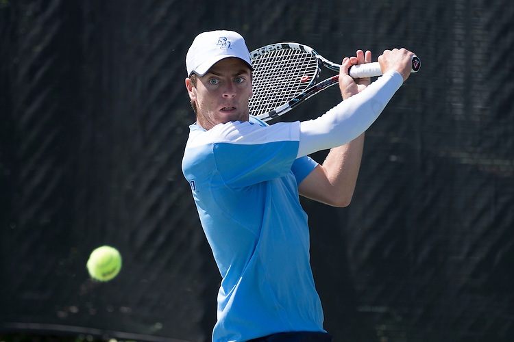 April 25, 2013; San Diego, CA, USA; San Diego Toreros player Clarke Spinosa during the WCC Tennis Championships at Barnes Tennis Center.