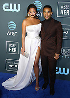 SANTA MONICA - JANUARY 13:  Chrissy Teigen and John Legend at the 24th Annual Critics' Choice Awards at the Barker Hangar on January 13, 2019, in Santa Monica, California. (Photo by Xavier Collin/PictureGroup)