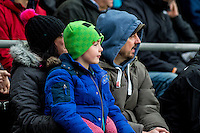 Swansea fans during the English Premier League game between Arsenal and Swansea at the Liberty Stadium in Swansea ,Wales, UK. Saturday 14 January 2017