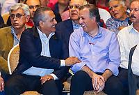 Jose Antonio Meade Kuribre&ntilde;a precandidato a la presidencia de la republica por el Partido Revolucionario Institucional ,PRI, asisti&oacute; al Quinto Foro Puntos de Encuentro: M&eacute;xico Potencia Sustentable donde se le vio acompa&ntilde;ado de Manlio Fabio Beltrones Rivera . Sal&oacute;n Parten&oacute;n del Hotel Santorian de Hermosillo Sonora a 26 enero 2018. <br /> <br /> #PRI #ELECCIONES2018 #PRECANDIDATO #MEADE