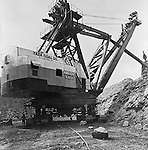 Zelienople, PA:  View of a Tasa Coal Company's Marion Power Shovel - 1956. - The Tasa Coal Co. operated its Mine No. 8 in this area. It was a strip mine operation due to the thinness of the area coal seams.