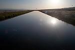 Irrigation canal, Wahluke Slope, Columbia River water, Hanford Reach, Washington State, Eastern Washington
