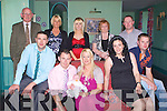PARTY: The family of Jason Gaynor celebrated his christening in St Mary's Church, Ballyheigue on Sunady in The White Sands Hotel, Ballyheigue. Front l-r: Eoin Carroll, John, Jason and Tracy Gaynor and Kim Stokes. Back l-r: Joseph Gaynor, Susan Whyte, NicoleWhyte, Margaret Gaynor and Joe Whyte. ......... ..........