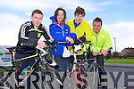 Dylan Hennebry, Sharon Cahill, Liam Cahill and Michael Harrington enjoying the Fenit Coastal Cycle in aid of St. Brendan's NS on Saturday