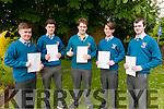 St Michael College, Listowel who sat the English Leaving cert exam on Wednesday: Adam Scollard, Aidan Quinn, Stephen Doherty, John Roche and Aaron Walsh