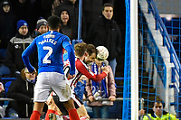Brett Pitman of Portsmouth scores the second goal in the final minutes to make the score 2-1 during Portsmouth vs Altrincham, Emirates FA Cup Football at Fratton Park on 30th November 2019