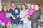 BUMPER EVENT: Pictured at the bump baby and toddler event, at CH Chemist, Tralee, on Wednesday were l-r: Fiona Fenelon (Tommee tippee) Mike Browne and his son Jack (Ballyduff) Sinead O'Connor (Midwife) and Anne Walsh, pictured with her daughter Seaná (Castleisland).