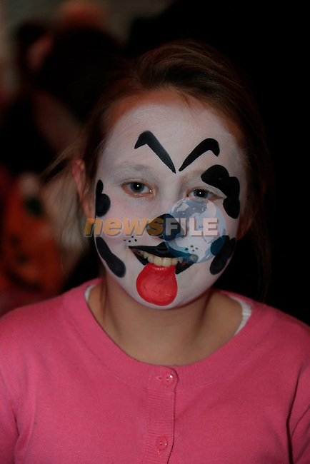 Charlotte McIlroy at the fancy dress in Scotch Hall.<br /> Picture: Fran Caffrey www.newsfile.ie