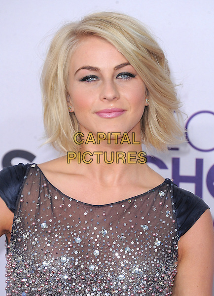 Julianne Hough.The 2013 People's Choice Awards held at Nokia Live in Los Angeles, California 9th January 2013                                                                   .headshot portrait silver blue beads beaded  .CAP/DVS.©DVS/Capital Pictures.