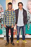 "Carlos Chaparro and Javier Veiga attends the Premiere of the Theater Play ""Al Final de la carretera"" at Fenan Gomez Theatre in Madrid, Spain. October 7, 2014. (ALTERPHOTOS/Carlos Dafonte)"
