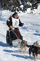 Scott Janssen on Long Lake at the Re-Start of the 2012 Iditarod Sled Dog Race